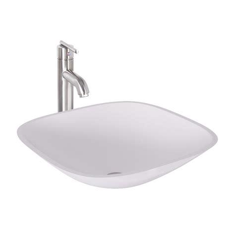 goose shaped brushed nichel kitchen faucet vigo square shaped phoenix stone glass vessel sink in
