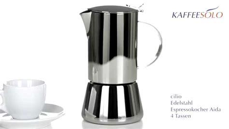 cilio espresso cilio 202120 espressokocher treviso 6 tassen gdvk de