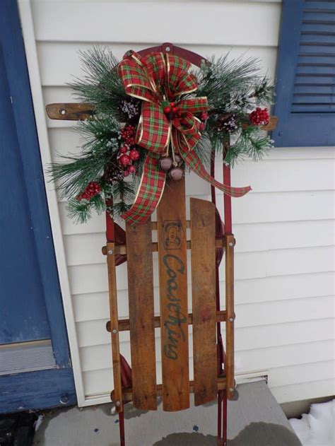 how to decorate sled 19 winter home decorations re purposing sleighs skis snowboards