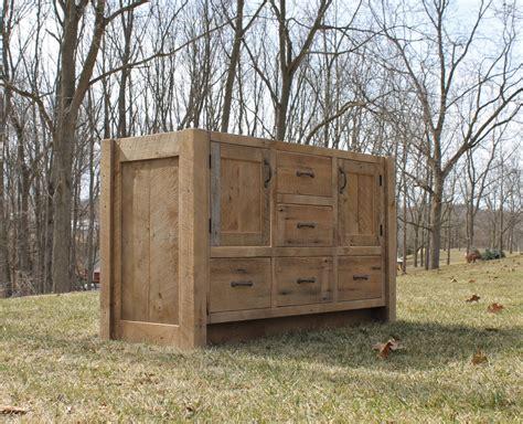 rustic vanity 54 reclaimed barn wood vanity
