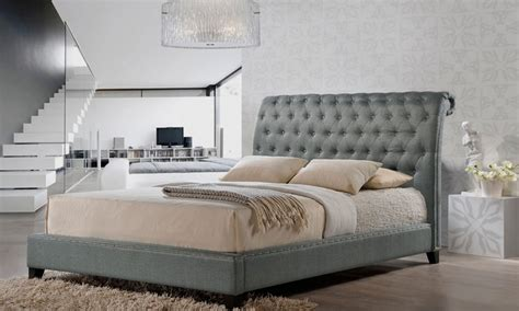 jazmin tufted modern bed with upholstered headboard jazmin tufted modern bed with upholstered headboard groupon