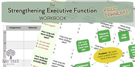 Executive Function Worksheets For Adults by All Worksheets 187 Executive Functioning Worksheets