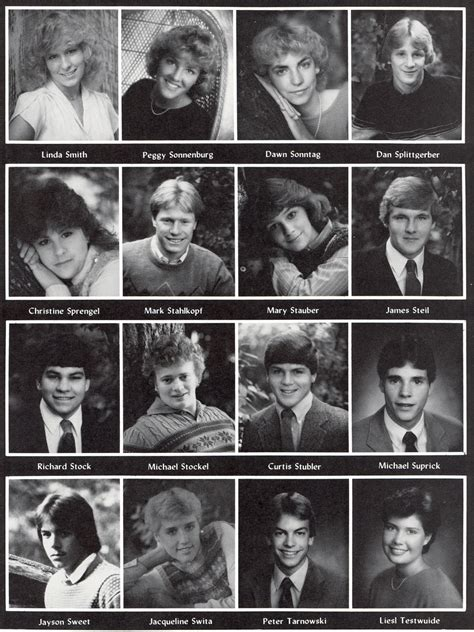 Michael Curtis 1985 Sheboygan North High Yearbook Page 68