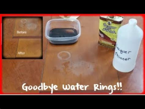 how to remove white water rings from wood heat stains