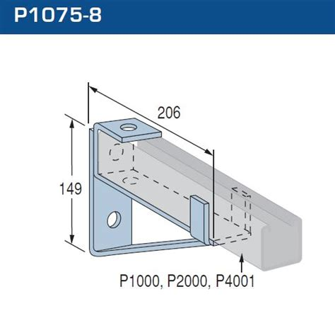 Enigma Electric Dropbolt Glass Fitting Bracket Only cantilever bracket p1075 8 dipped galvanised