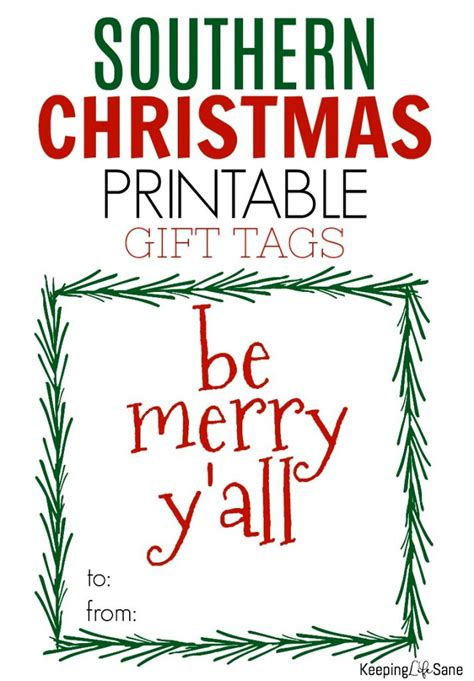 southern christmas gift tags keeping life sane
