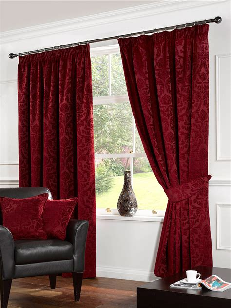 red and black fabric for curtains living room contemporary bay windows curtains for living