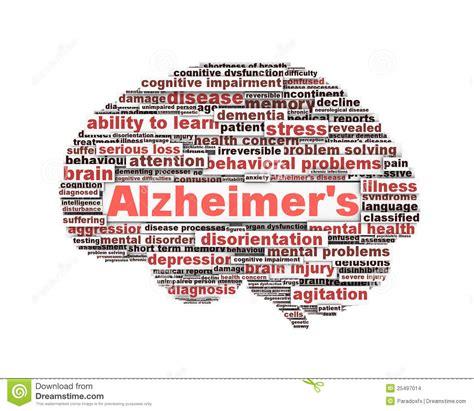 concept de message de symbole de maladie d alzheimer
