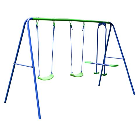 swing set seesaw hlc outdoor childrens folding swing set with 2 baby swing