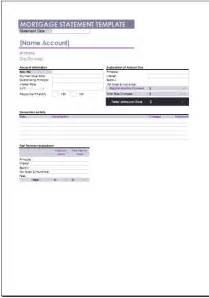 mortgage template free mortgage statement template
