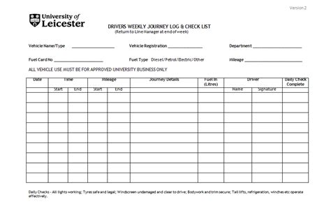 template of vehicle log book vehicle log book format excel and word excel tmp