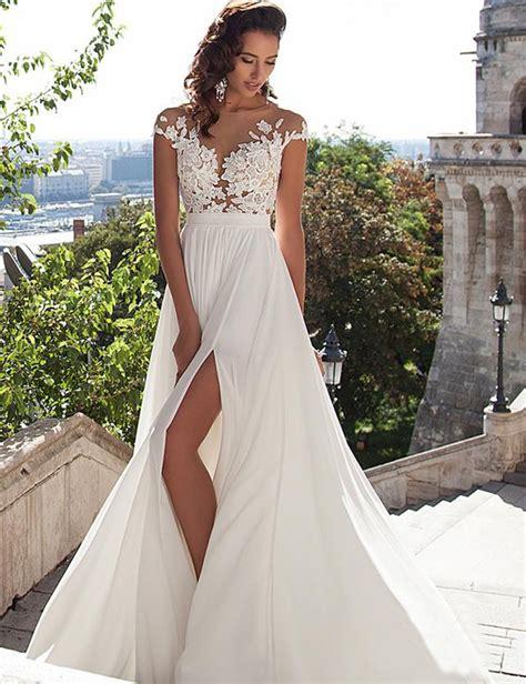 beach wedding dresses boho sexy v neck wedding dresses