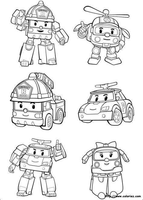 Tobot Y Coloring Pages by Coloriage Planche Robocar 1