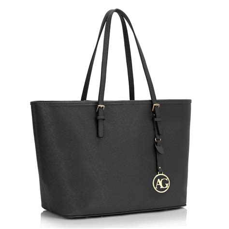 Tas Blacu Tote Bage ag00297 black tote shoulder bag
