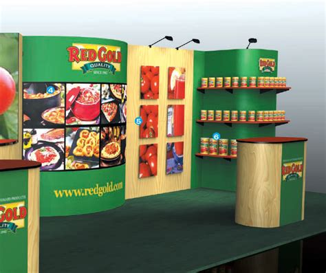 mozaiek l staand plouto τrade show displays conference displays stand
