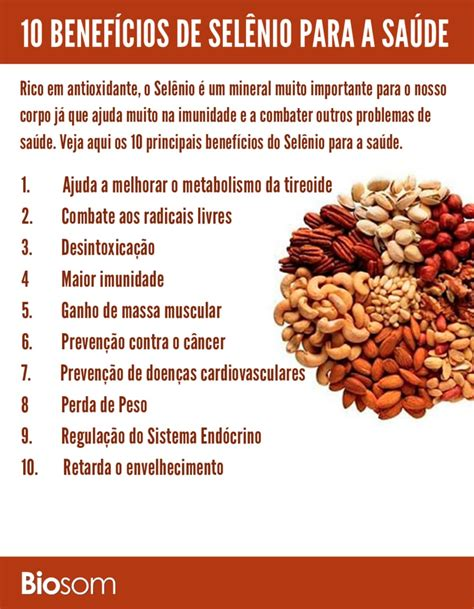 alimentos ricos selenio sel 234 nio 10 benef 237 cios de sel 234 nio e os principais