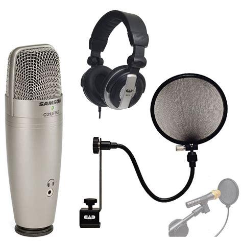 Samson Q2 Usb Microphone Samson C01u Pro Usb Studio Condenser Microphone With With Reverb