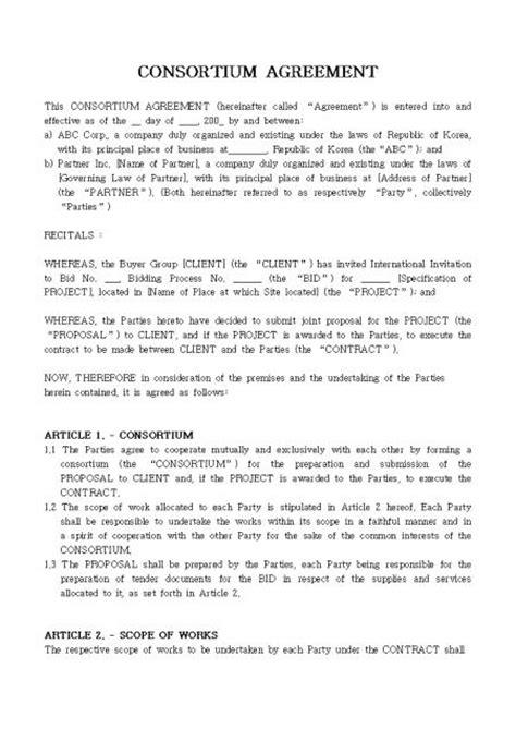 consortium agreement template consortium agreement template emsec info