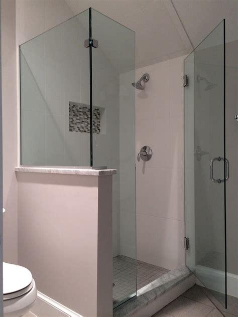 Corner Shower Doors Glass Frameless Corner Shower Enclosures