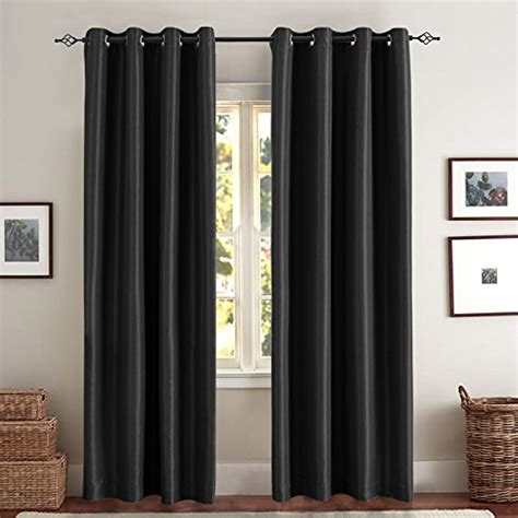 black blackout curtains bedroom blackout curtains for bedroom black 63 inch faux silk