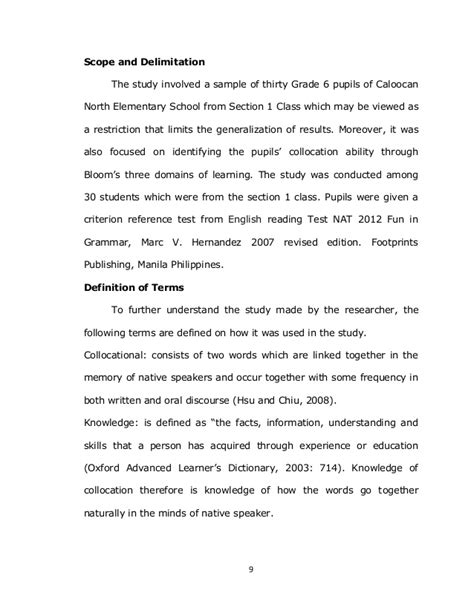 exle of scope and delimitation in research paper expert writing editorial media toronto eleven