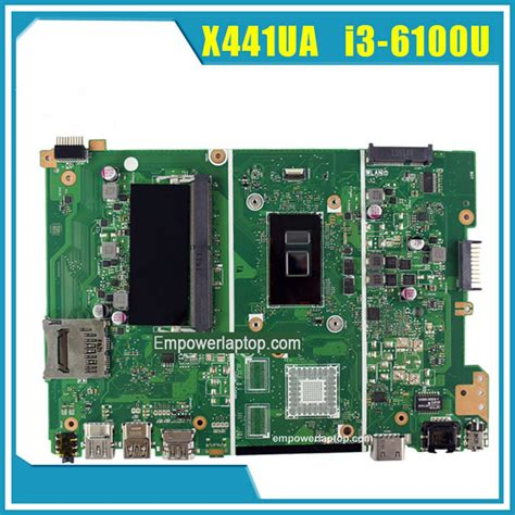 Motherboard Laptop Asus I3 asus motherboard x441ua mainbvoard with i3 6100u