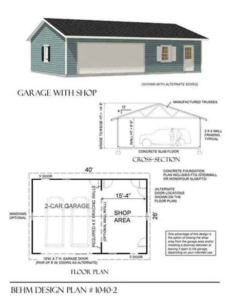 shop garage plans 28 best detached garage w workshop images on pinterest