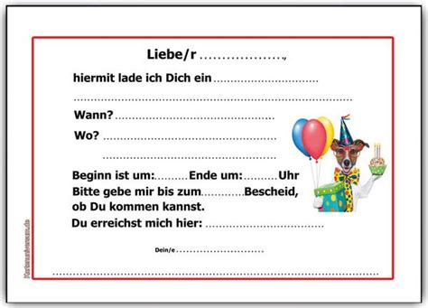 Hochzeitseinladung Hund by Einladung Kindergeburtstag Einladungskarten Hund Hunde
