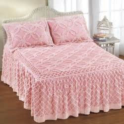 Striped Duvet Cover Queen Pink Chenille Bedspread Chenille Chill Pinterest