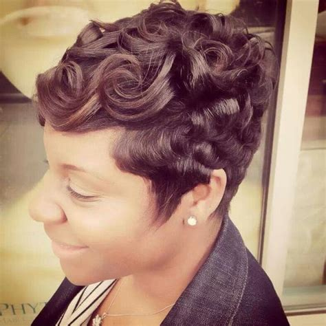 pin curls on pixie cut pin curl pixie short and sassy hair pinterest curls