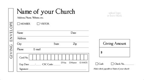 church offering envelopes templates layout request draft