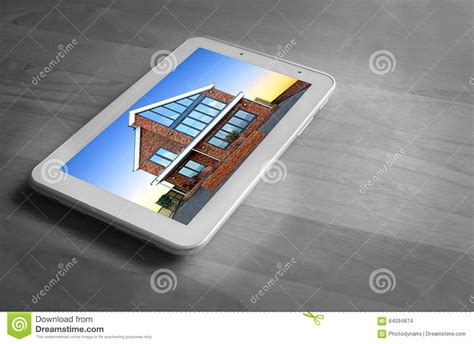 tablet new home search stock photo image 64094874