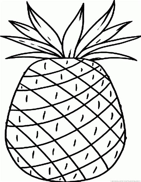Pineapple Coloring Pages Cut Coloring Pages Pineapple Coloring Page