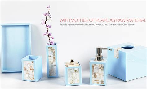 luxury of pearl bathroom accessory sets soap dishes