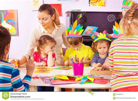 craft class for and of in craft class stock image