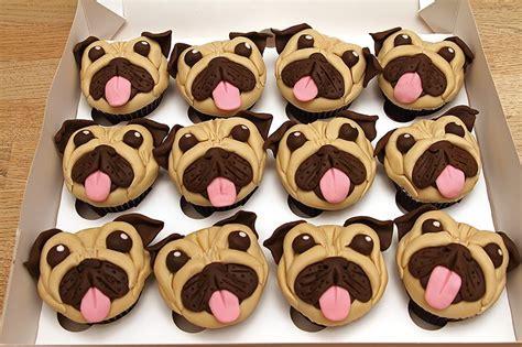 pug birthday cakes pug cupcakes