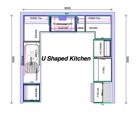 Top 20 U Shaped Kitchen House Plans 2018 Interior Kitchen Design Blueprints