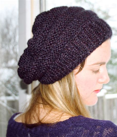 knitting pattern slouchy hat slouchy hat knitting and crochet stuff i like pinterest