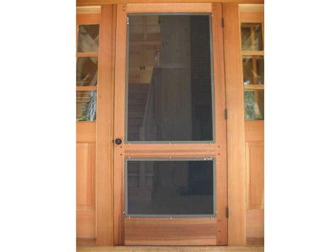 swinging screen door wood frame swinging door screenman mobile screening service