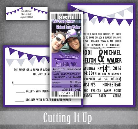 place card sport ticket template baseball wedding ticket invitations sports invitation