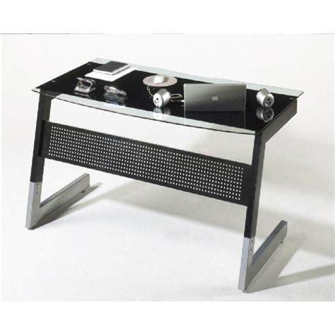 Black Glass Top Computer Desk by Pico Black And Clear Glass Top Computer Desk With Metal