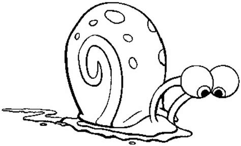 coloring pages spongebob gary gary the snail coloring page coloring home