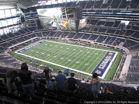 att stadium view from seats at t stadium section 407 dallas cowboys rateyourseats