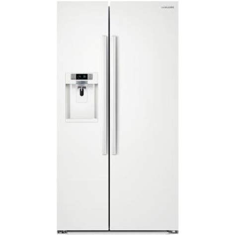 samsung 22 3 cu ft side by side refrigerator in white
