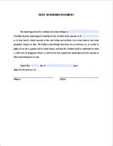 Acknowledgement Agreement Template debt acknowledgement letter free fillable pdf forms
