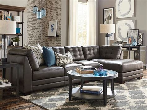 bassett living room furniture affinity right chaise sectional by bassett furniture