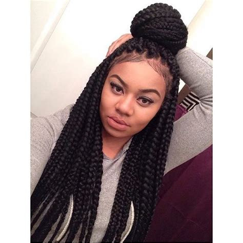 pic of the bix of hair used for crochet braids jumbo box braids protective natural hairstyles