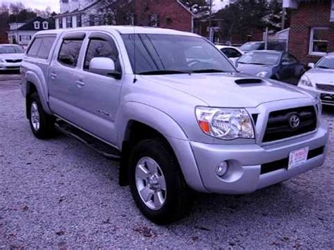 07 toyota tacoma double cab trd sport *leer camper shell