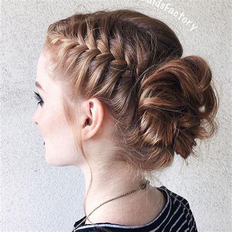 french braid bun on empire best 25 side bun hairstyles ideas on pinterest