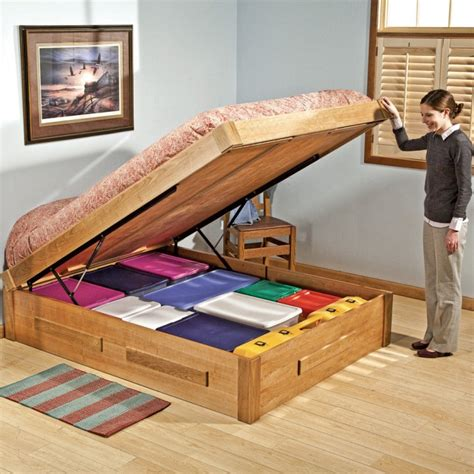 bed lift mechanism built ins and space saving design neoterra
